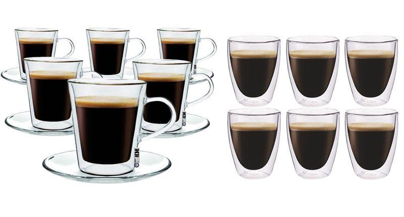 Szklanki z Podwójną Ścianką do Kawy Lungo 220ml i Coffee 235ml 12 szt zdjęcie 1