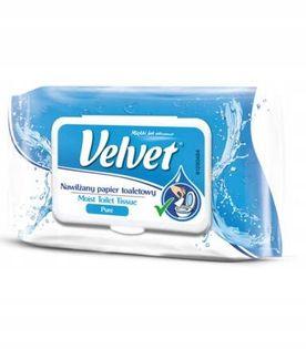 VELVET Pure Nawilżany papier toaletowy 42 szt