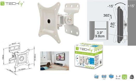 """Uchwyt ścienny LCD/LED Techly ICA-LCD 201WH 13-30"""" regulowany, biały"""