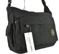 Torebka materiałowa Fantasy czarna sportowa torba listonoszka miękka