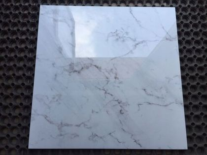 Gres polerowany FROST WHITE 60x60 Biały marmur g.1