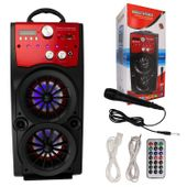 Głośnik Miniwieża Boombox 60W LED Bluetooth + Mikrofon RX-S50 G208Z zdjęcie 17
