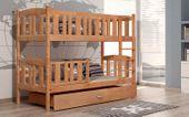 Łóżko piętrowe KUBUŚ 180x80 + szuflada + materace