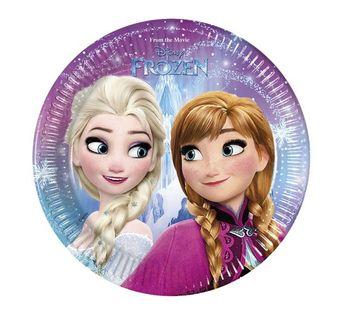 Talerzyki Frozen Kraina Lodu Roczek Urodziny 6szt