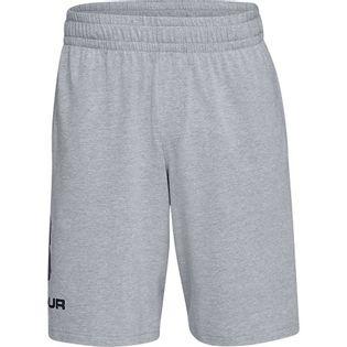 Spodenki męskie Under Armour Sportstyle Cotton Logo szare 1329300 035