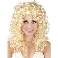 PERUKA blond kręcone długie WŁOSY jasełka ANIOŁEK