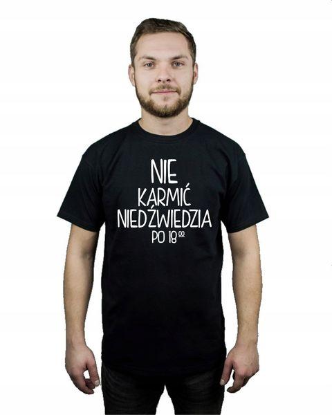 Koszulka męska NIE KARMIĆ NIEDŹWIEDZIA PO 18 XXL na Arena.pl