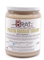 Pasta Masło Tahini Sezamowa 500g – 100% naturalna bez dodatków – BRAT.