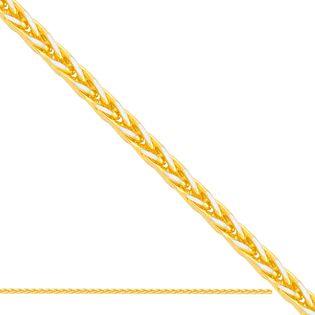 55 cm łańcuszek fantazyjny ,żółte i białe złoto 585/14k
