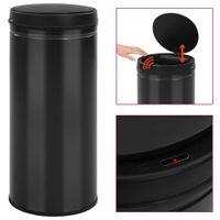 Automatyczny kosz na śmieci z czujnikiem, 80 L, stal, czarny