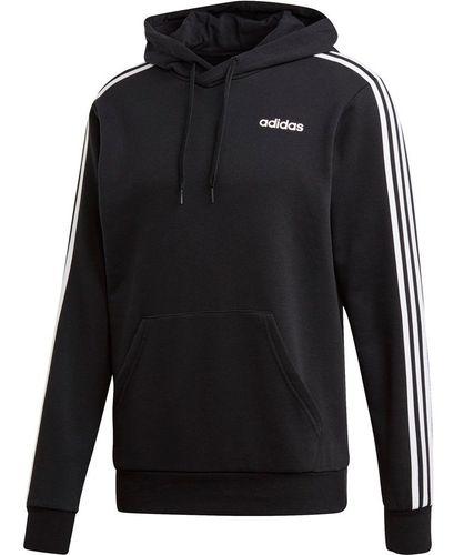 Bluza męska adidas Essentials 3 Stripes Pullover French Terry czarna DU0498 M na Arena.pl