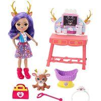 Enchantimals - Zestaw Przychodnia dla zwierzątek + lalka Danessa Deer i jelonek Sprint, akcesoria GBX04