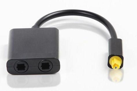TOSLINK splitter 1x2 kabel optyczny trójnik AUDIO