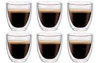 Szklanki Termiczne do Kawy Espresso Herbaty 80ml 6 sztuk