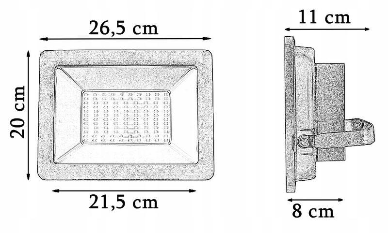 HALOGEN LAMPA NAŚWIETLACZ LED 100W ZEWNĘTRZNA SMD zdjęcie 4