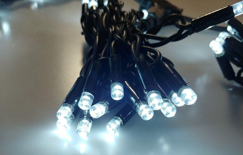 Kurtyna Sople LED 8,75 m • 200 LED • z efektem FLASH • zewnętrzne lampki choinkowe NR 1776 Zimny biały (błyska zimny biały) na Arena.pl