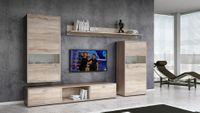 Meblościanka Casablanca zestaw meble systemowe do salonu Dąb Sonoma