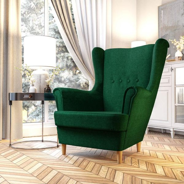 Fotel Skandynawski Uszak mocny materiał+sprężyny zdjęcie 9