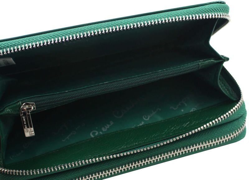 Saszetka podwójna damska Pierre Cardin, kolor zielony zdjęcie 7