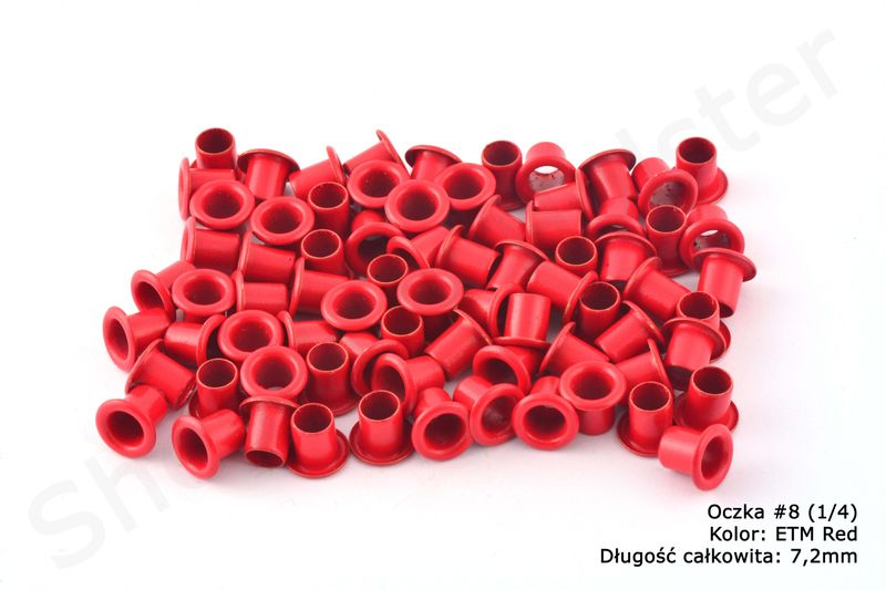 Oczka do Kydexu -ETM Red- dł. 7,2mm - 25 sztuk na Arena.pl