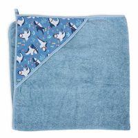 Ręcznik dla niemowlaka Printed Line Shark 100x100 / Ceba Baby