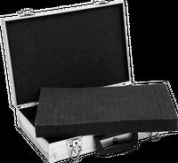 Walizka aluminiowa mała - 400x270x98 mm + wypełnienie piankowe