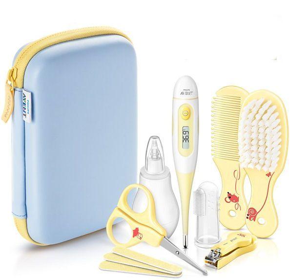 Zestaw AVENT pielęgnacyjny kosmetyczny dla dzieci i niemowląt z etui zdjęcie 1
