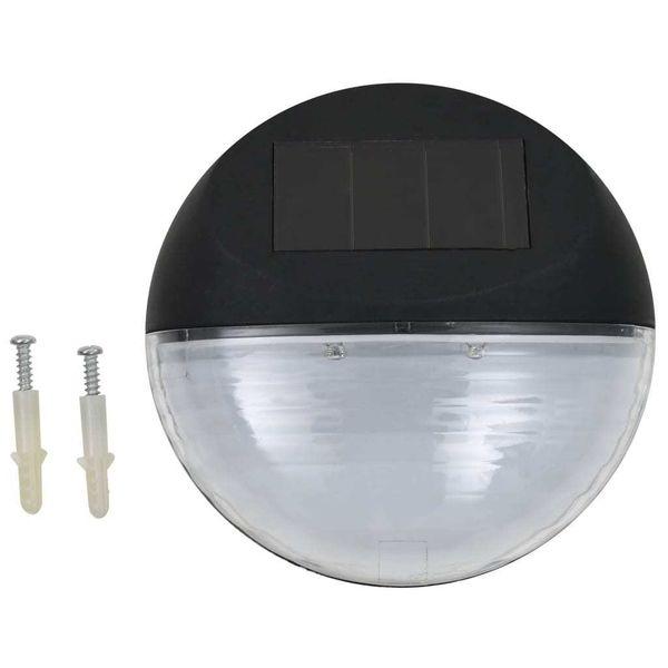 Ścienne Lampy Solarne Led Na Zewnątrz, 12 Szt, Okrągłe, Czarne zdjęcie 2