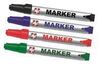 AVTek Markery 4 sztuki (czarny, czerwony, niebieski, zielony)