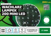 Lampki na druciku 10 wiązek po 2 m • 200 LED • zewnętrzne oświetlenie świąteczne NR 1772 Zimny biały
