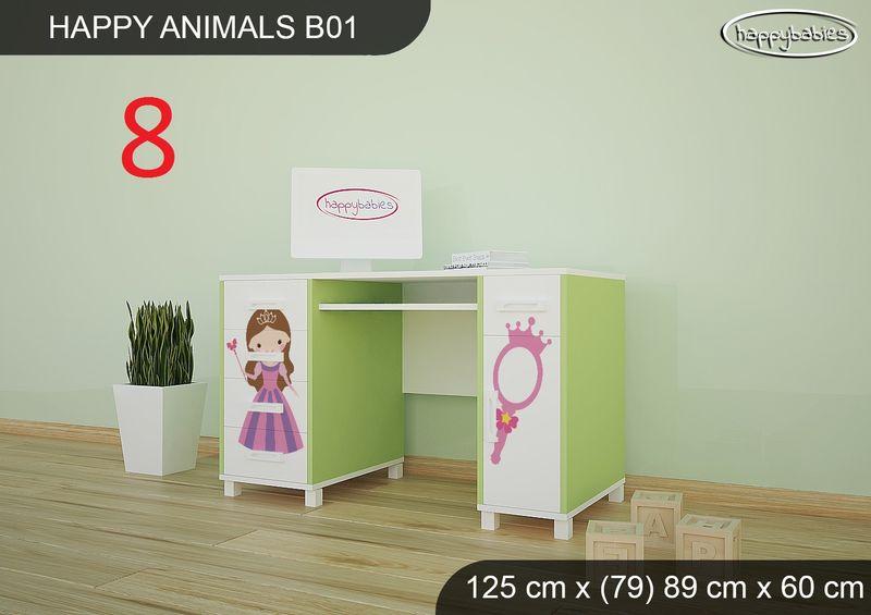 BIURKO DZIECIĘCE  HAPPY ANIMALS B01 AM01 Zielone zdjęcie 21