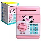 Skarbonka Sejf Krówka na Kod Dostępu Bank Różowa Świnka Y207