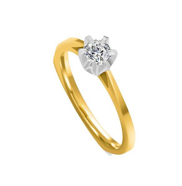 Pierścionek zaręczynowy z BRYLANTEM 0,20 ct Si1/H zdjęcie 1