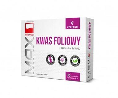 Colfarm Kwas Foliowy B6 B12 30 T Ciąża