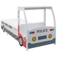 Łóżko dziecięce samochód policyjny materac 90x200cm H2 VidaXL