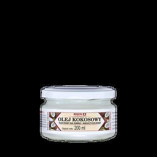 Olej kokosowy nierafinowany tłoczony na zimno 200 ml