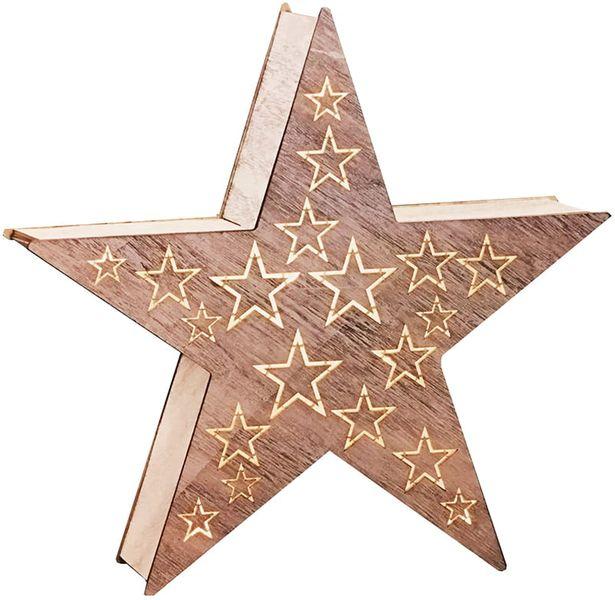 Ozdoba drewniana gwiazda LED 1j 35cm zdjęcie 5