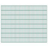 Panele ogrodzeniowe 2D, 2,008 x 1,63 m, 12 m, zielone