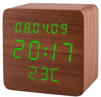 XONIX GHY-1310 Budzik LCD, termometr, datownik, 3 x alarm, zasilanie sieciowe, aktywacja głosem