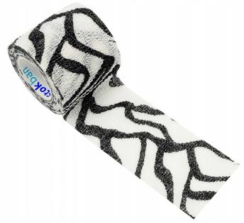 Bandaż kohezyjny samoprzylepny 5cm x 4,5m zebra