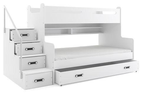 Łóżko 3 osobowe dziecięce Max 3 dla dzieci 200x120 piętrowe + STELAŻ
