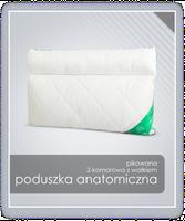 Poduszka anatomiczna mikrofibra z wałkiem AMZ 50x70