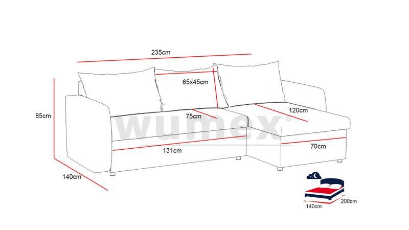 Narożnik Sony funkcja SPANIA łóżko ROGÓWKA sofa zdjęcie 3