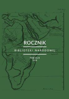 Rocznik Biblioteki Narodowej Tom XLIX