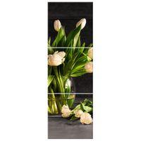 OBRAZ DRUKOWANY  Kremowe tulipany 30x90