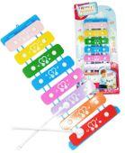 Cymbałki kolorowe edukacyjne dla dziecka 8 Tonowe Y300