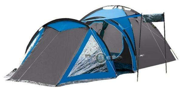 Rodzinny namiot 4-osobowy SOLITER nieb-szary