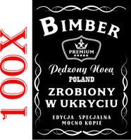 ETYKIETY Naklejki Wódkę Weselną alkohol bimber 100szt