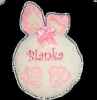 Poduszka z haftem imieniem prezent dla dziecka królik