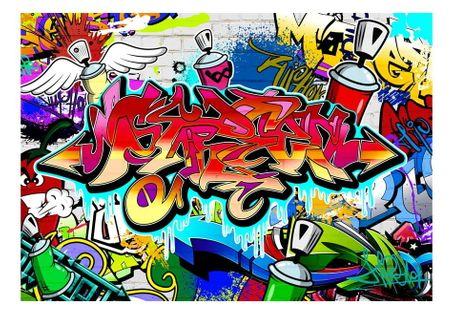 Fototapeta - Street art: czerwony motyw - 250X175